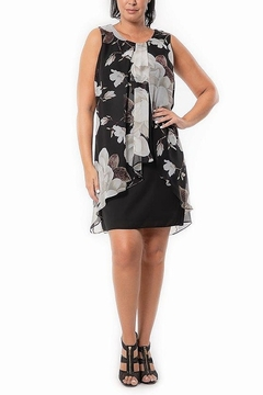 Bali Corp. Floral Chiffon Overlay Dress - Alternate List Image
