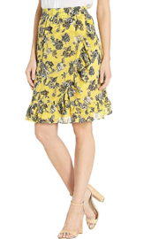 Kensie Floral Chiffon Skirt - Product Mini Image