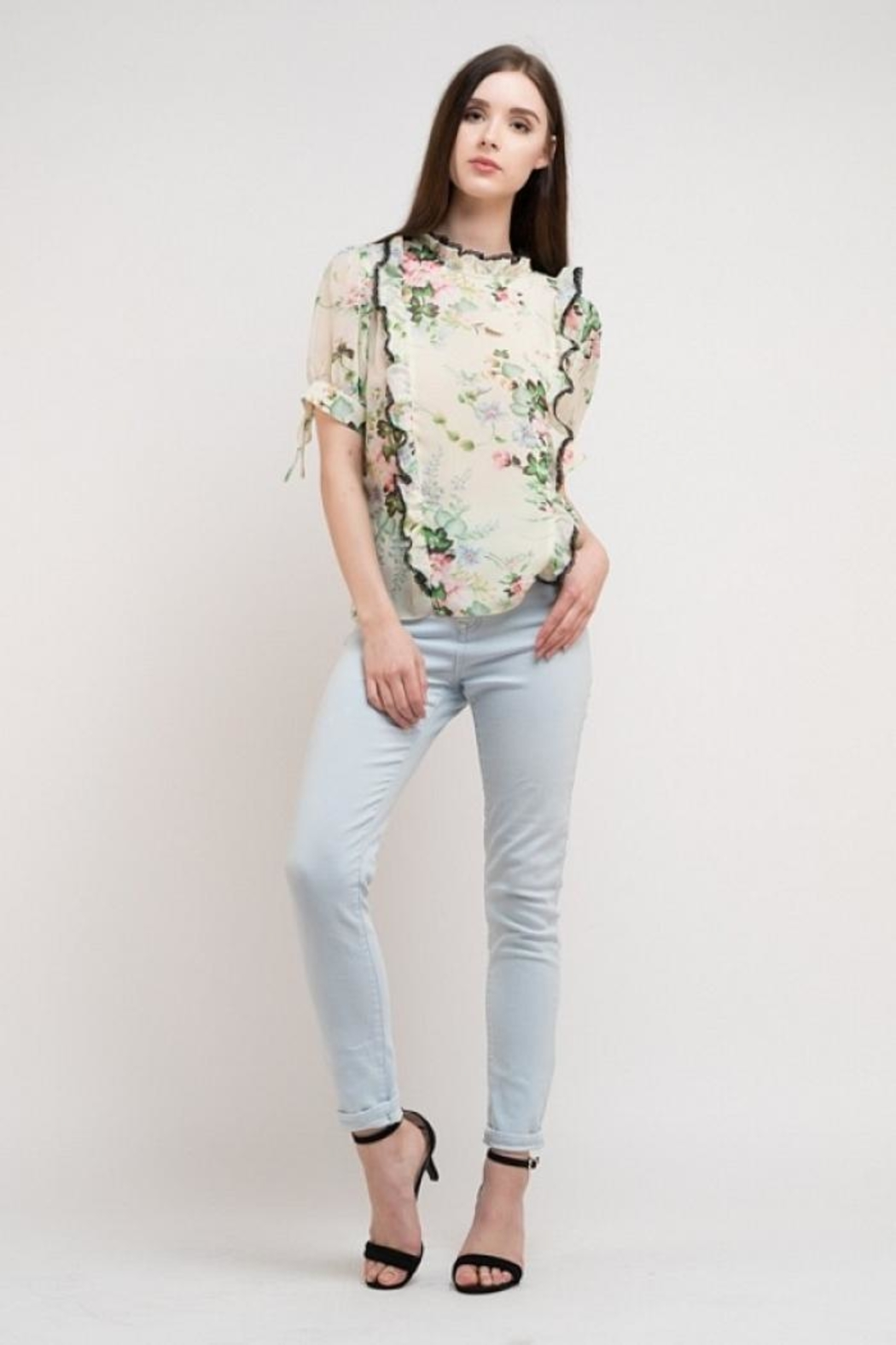 Elegance by Sarah Ruhs Floral Chiffon Top - Main Image