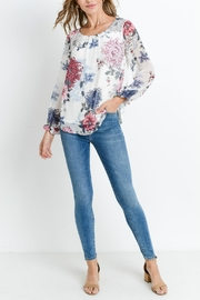 Les Amis Floral Chiffon Top - Product Mini Image