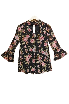 Absolutely Famous Floral Choker Top - Product List Image