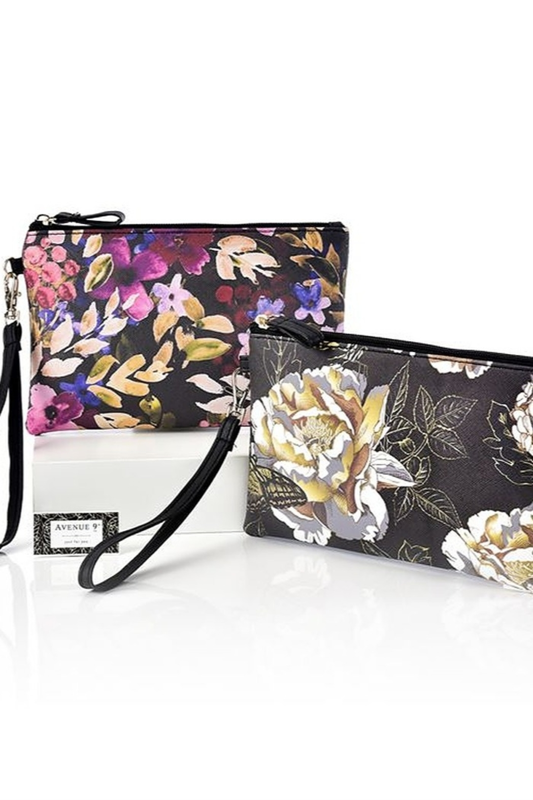 Gift Craft Floral clutch - Front Full Image