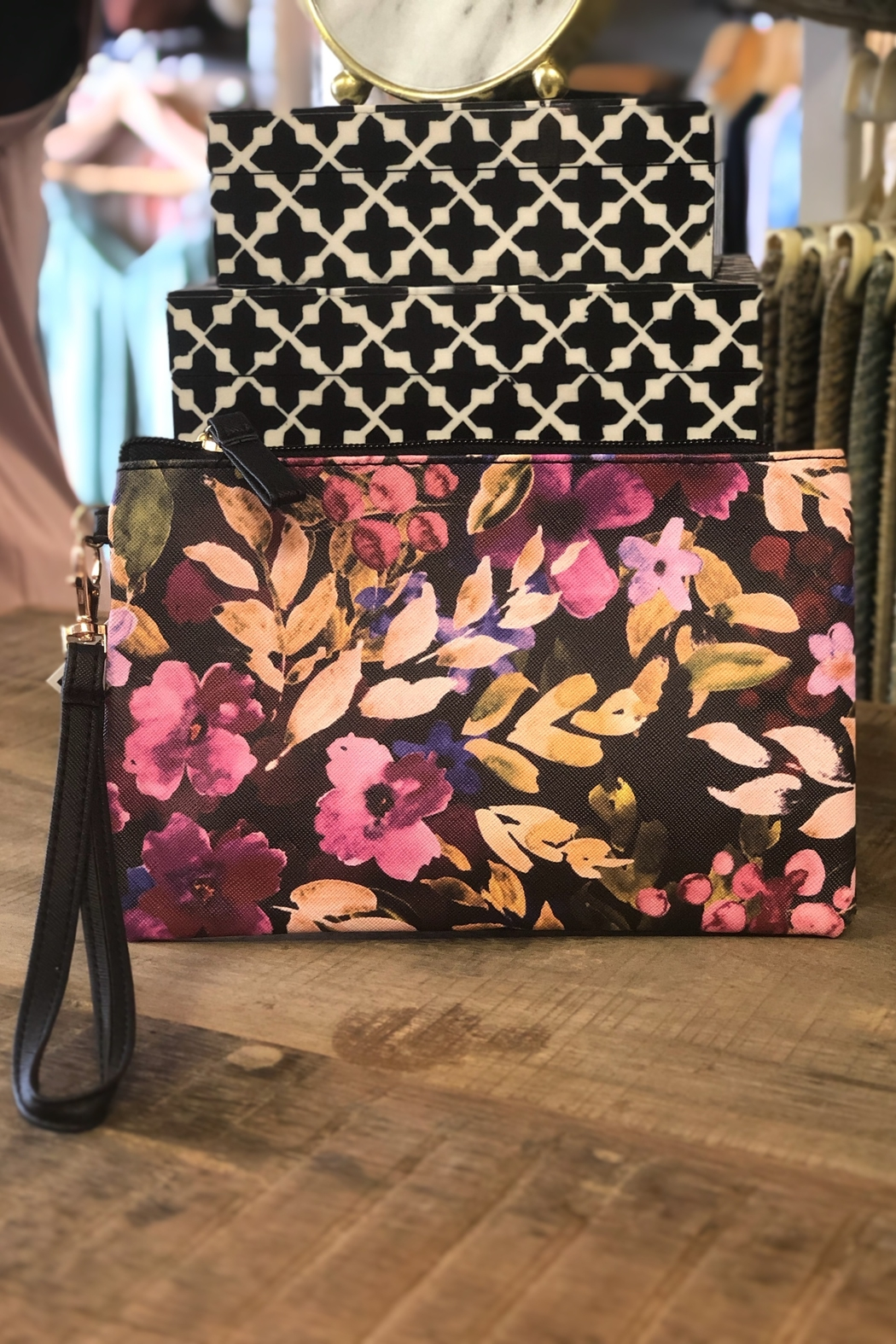 Gift Craft Floral clutch - Main Image