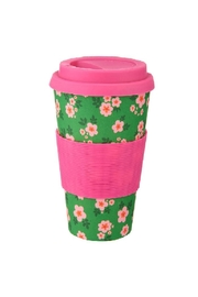 Sass & Belle Floral Coffee Cup - Front cropped