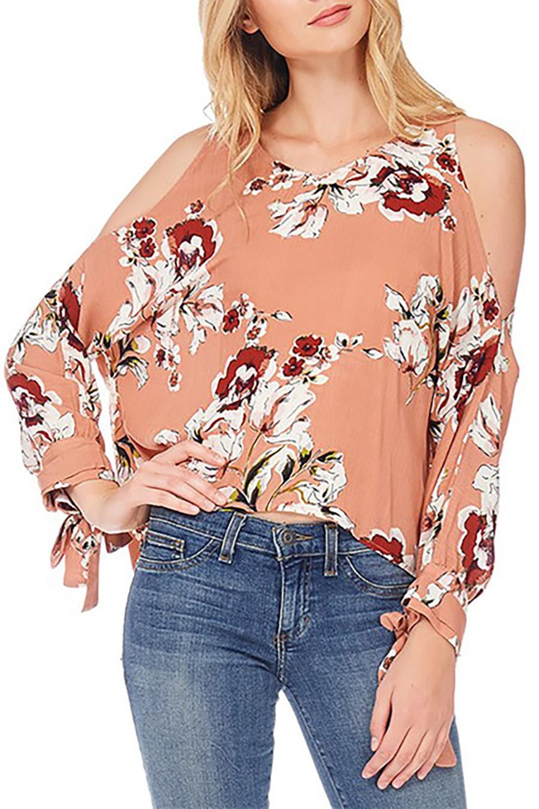 Anama Floral Cold-Shoulder Blouse - Main Image