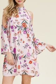 Riah Fashion Floral Cold-Shoulder Dress - Product Mini Image