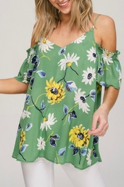 Hyped Unicorn Floral Cold-Shoulder Top - Product Mini Image