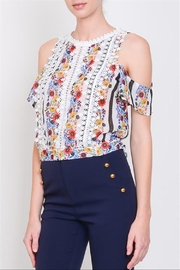 Lulumari Floral Cold-Shoulder Top - Product Mini Image