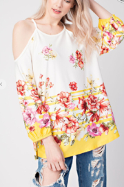 Mittoshop Floral Cold Shoulder Top - Product Mini Image