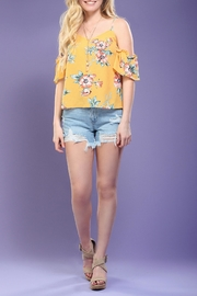 Flying Tomato Floral Cold-Shoulder Top - Product Mini Image