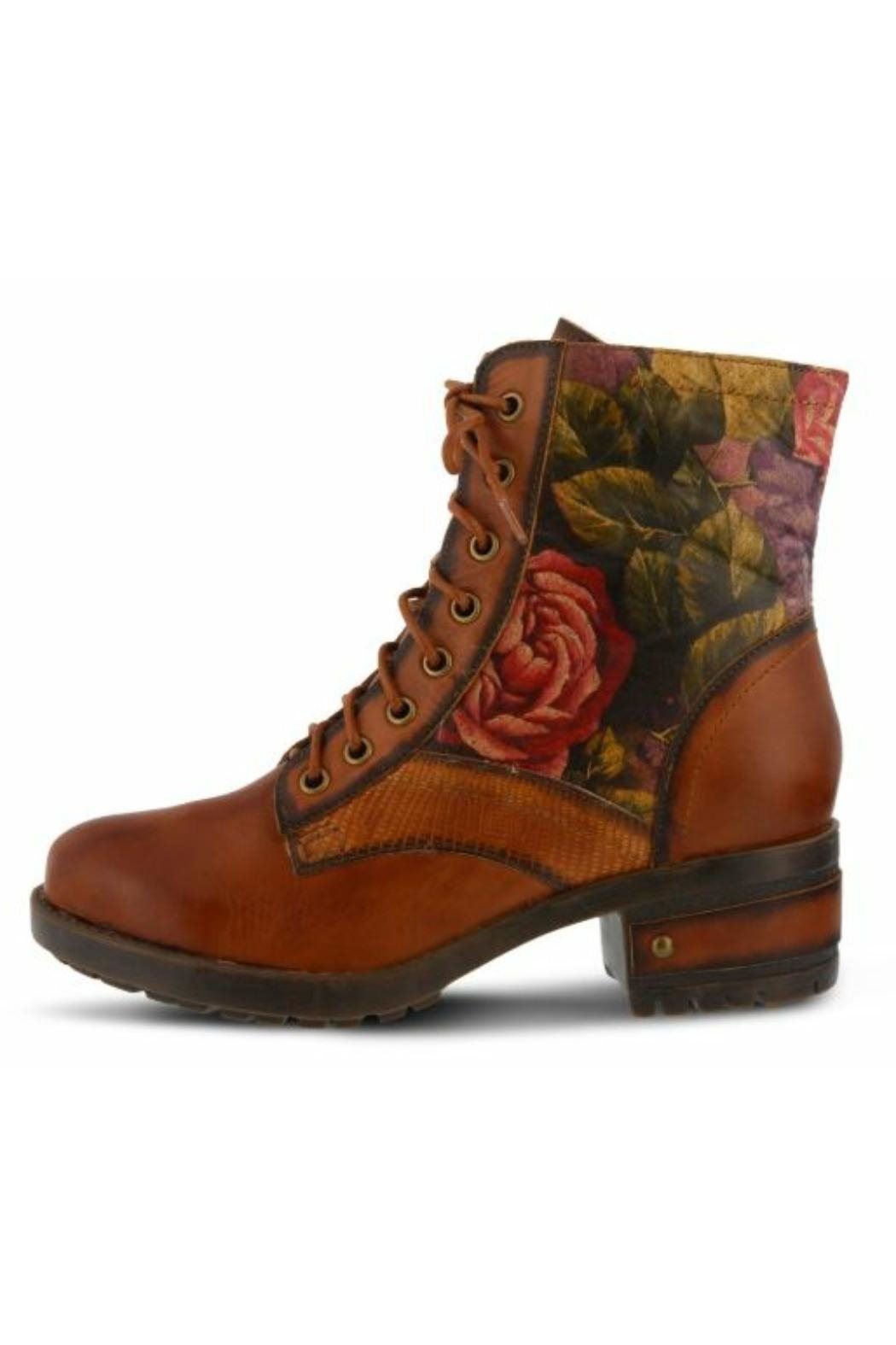 Spring Step  Floral Combat Boot - Main Image
