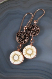 Silver Serpent Studio Floral Copper Earrings - Product Mini Image