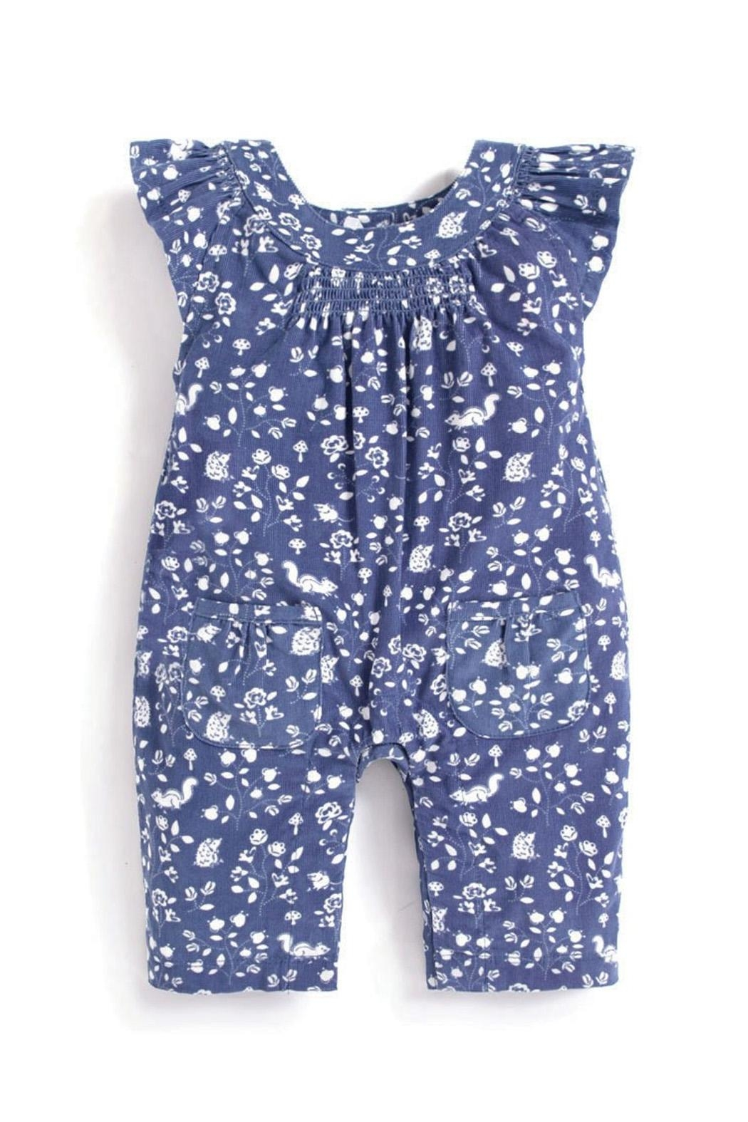 JoJo Maman Bebe Floral Cord Overalls - Front Cropped Image