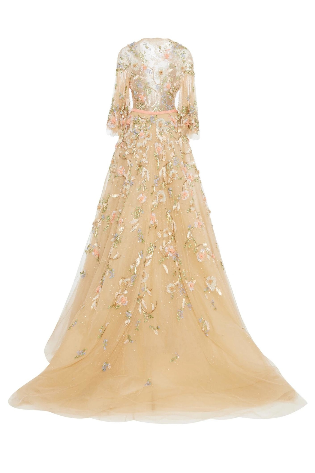 Marchesa Floral Couture Gown - Front Full Image