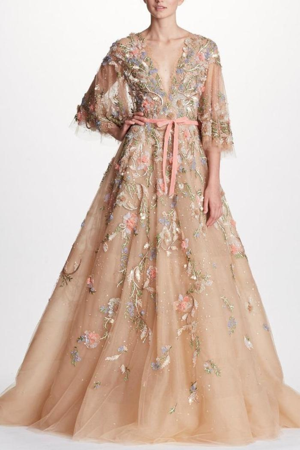 Marchesa Floral Couture Gown - Main Image