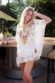 Z&L Europe Floral Cover Up - Front cropped