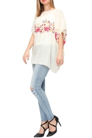 Life Is Beautiful Floral Cover-Up Poncho - Front full body