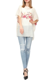 Life Is Beautiful Floral Cover-Up Poncho - Front cropped