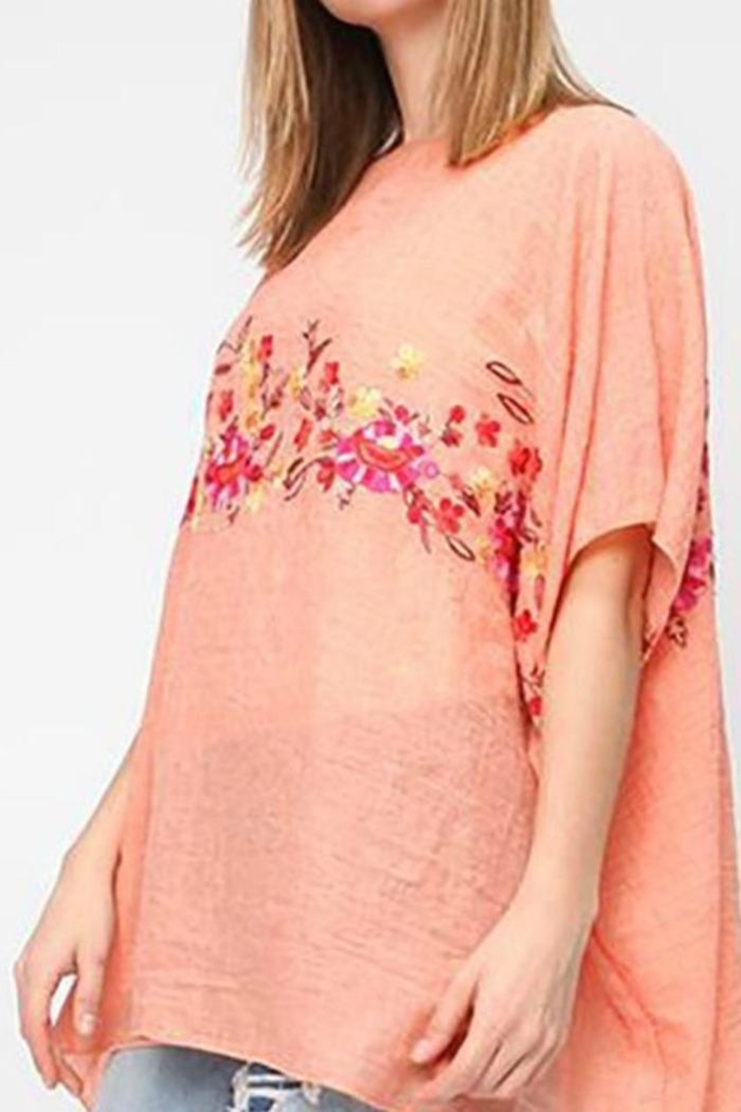 Life Is Beautiful Floral Cover-Up Poncho - Front Full Image