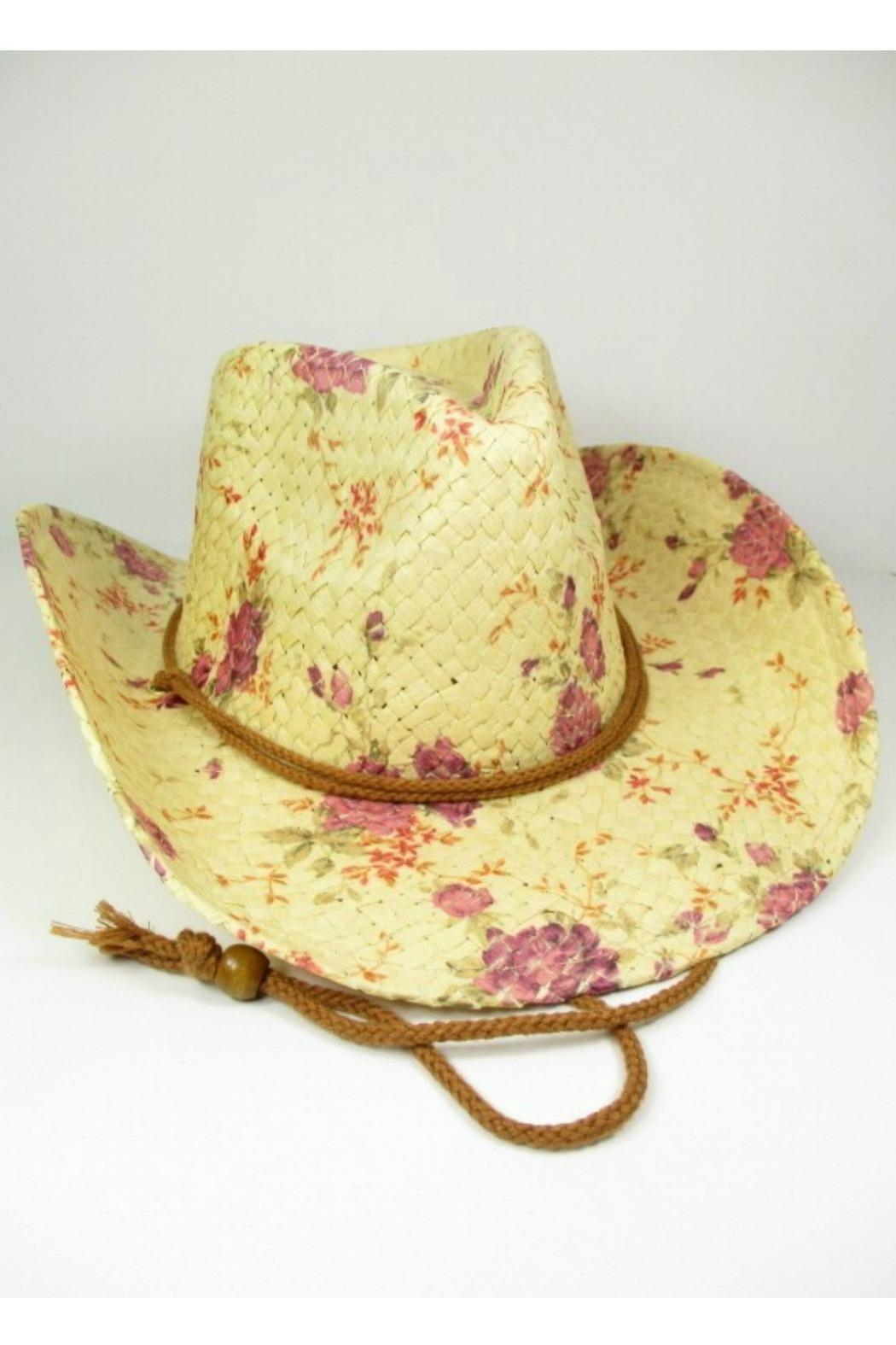 MHGS Floral Cowboy Hat - Front Cropped Image