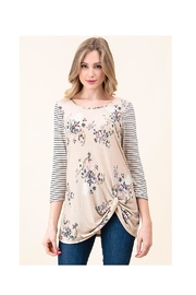 Vision Floral Cowhead Top - Product Mini Image