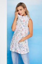 Charlie B Floral Crinkle Funnel Neck Blouse - Product Mini Image