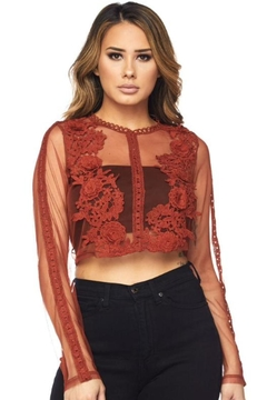 Hot & Delicious Floral Crochet Top - Product List Image