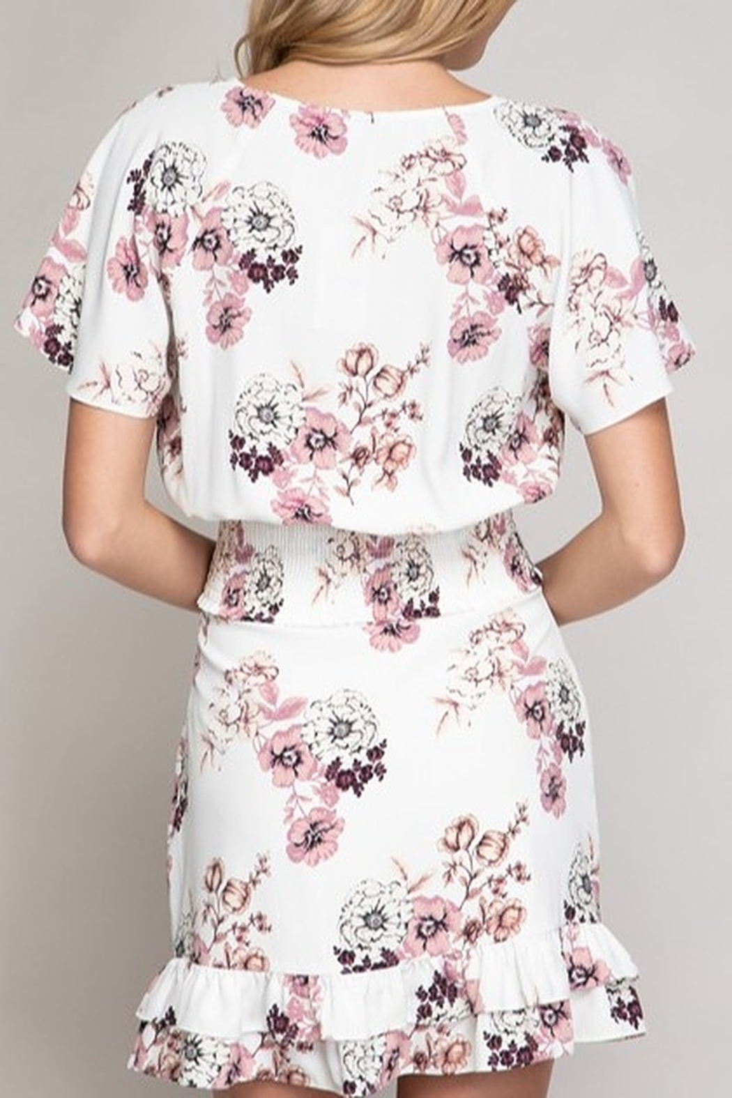 Abeauty by BNB Floral Crop Blouse - Front Full Image
