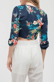 Blu Pepper Floral Crop Top - Front full body