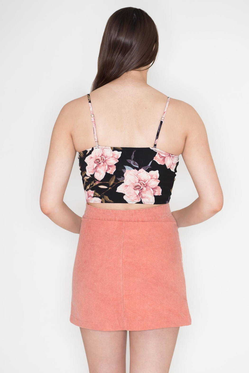 Bear Dance Floral Crop Top - Side Cropped Image