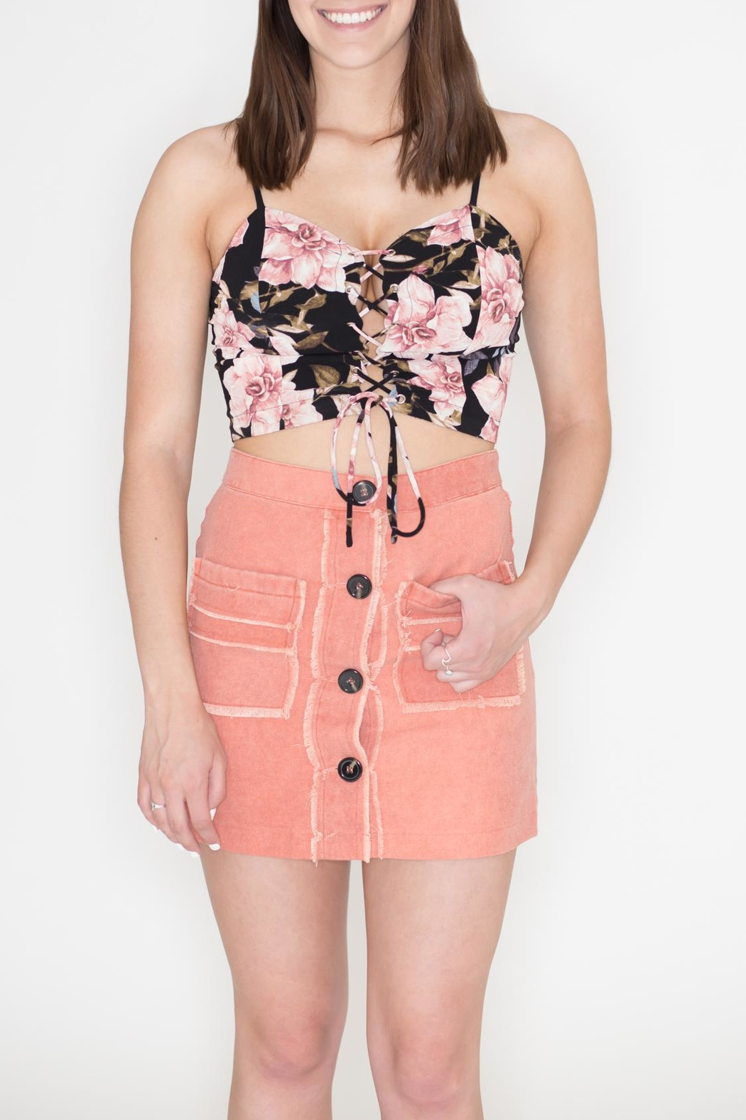 Bear Dance Floral Crop Top - Main Image