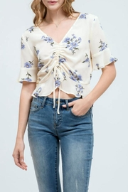 Blu Pepper Floral Crop Top - Product Mini Image