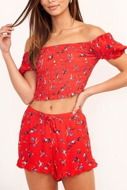 Olivaceous Floral Crop Top - Product Mini Image