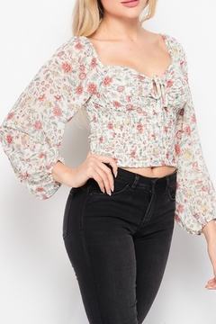 Love Tree  Floral Crop Top - Product List Image