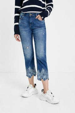 Desigual - Spain Floral Cropped Jeans - Hawibi - Product List Image