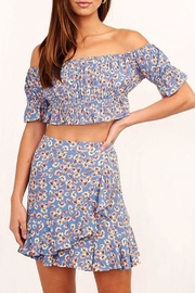 Olivaceous Floral Cropped Top - Product Mini Image
