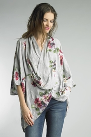 Tempo Paris Floral Cross-Over Top - Product Mini Image