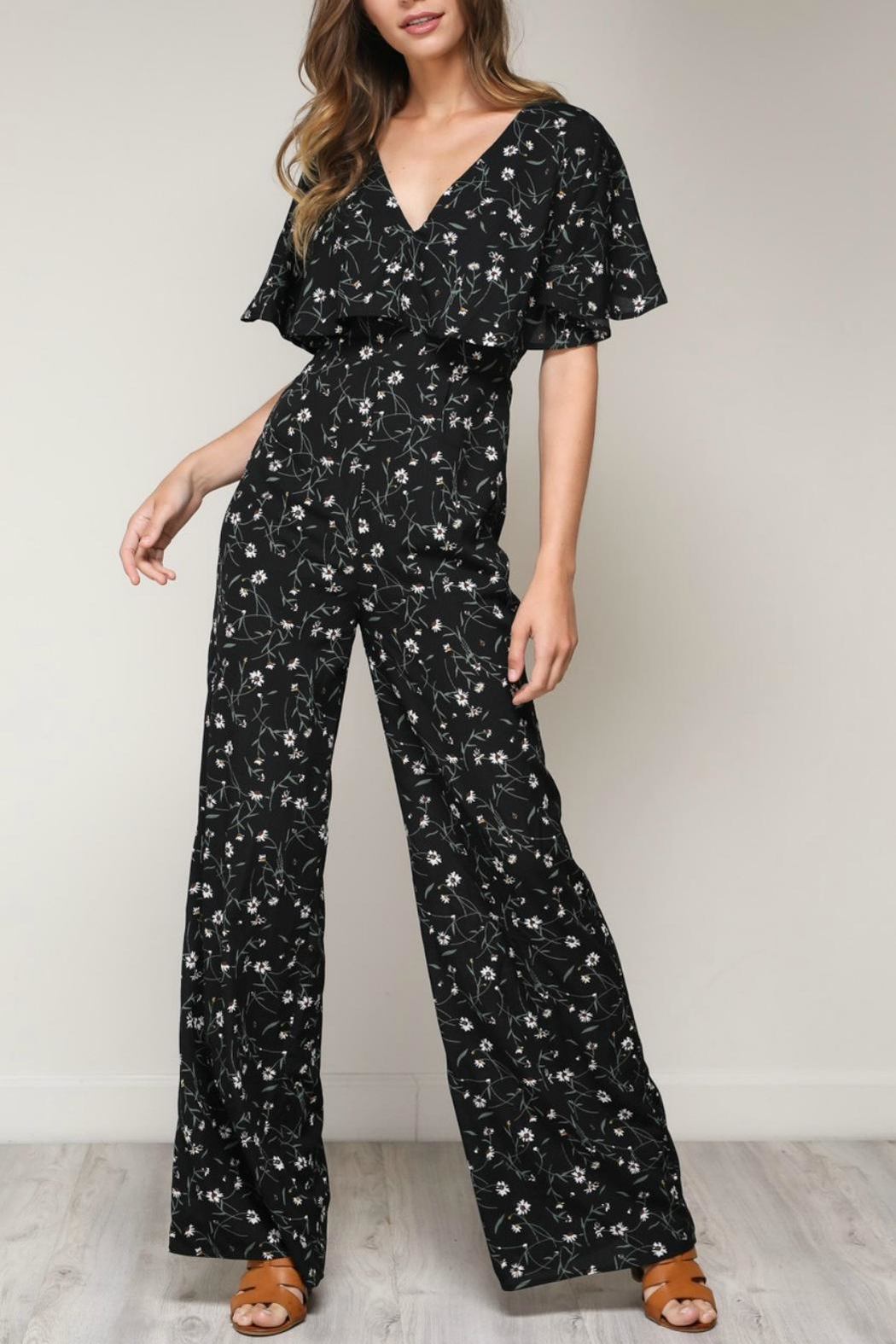 Pretty Little Things Floral Crossback Jumpsuit - Main Image