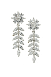 Wild Lilies Jewelry  Floral Crystal Earrings - Product Mini Image