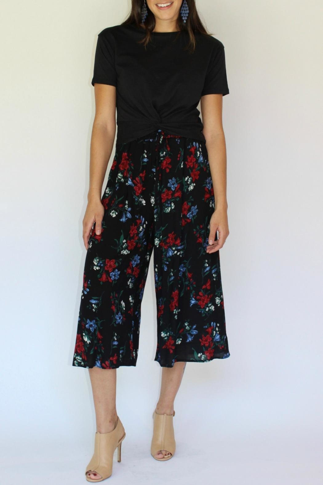 RD Style Floral Culotte Pant - Main Image