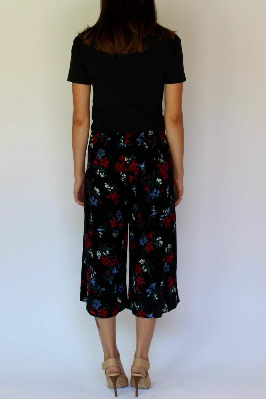 RD Style Floral Culotte Pant - Side Cropped Image