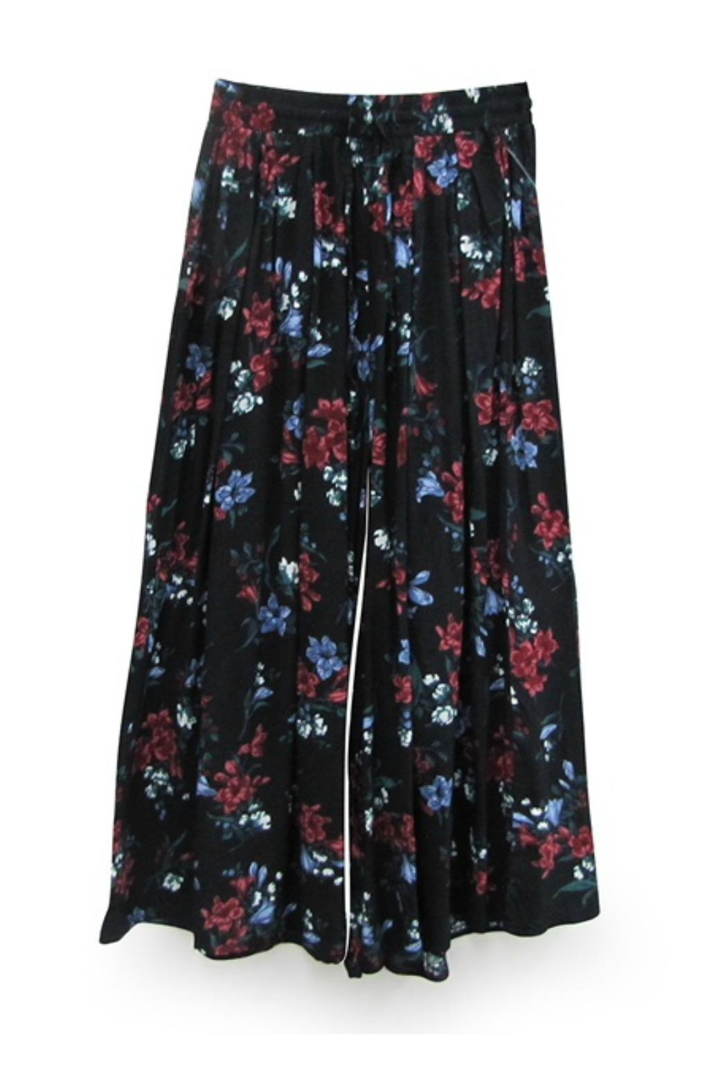 RD Style Floral Culotte Pant - Back Cropped Image