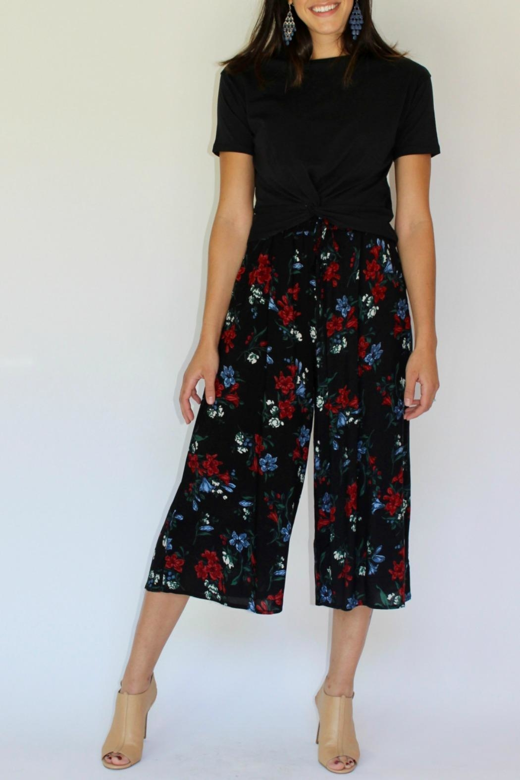 RD Style Floral Culotte Pant - Front Full Image