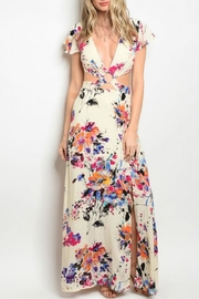 Solaris Style Floral Cut-Out Dress - Product Mini Image