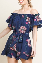 Umgee Floral Cutie romper - Front cropped