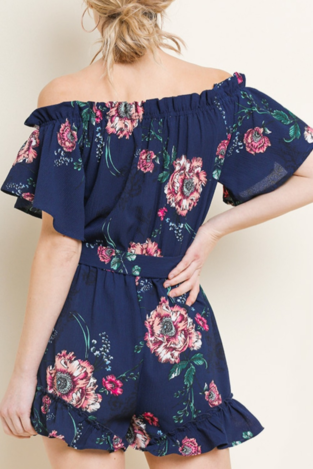 Umgee Floral Cutie romper - Front Full Image