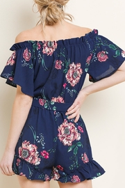 Umgee Floral Cutie romper - Front full body