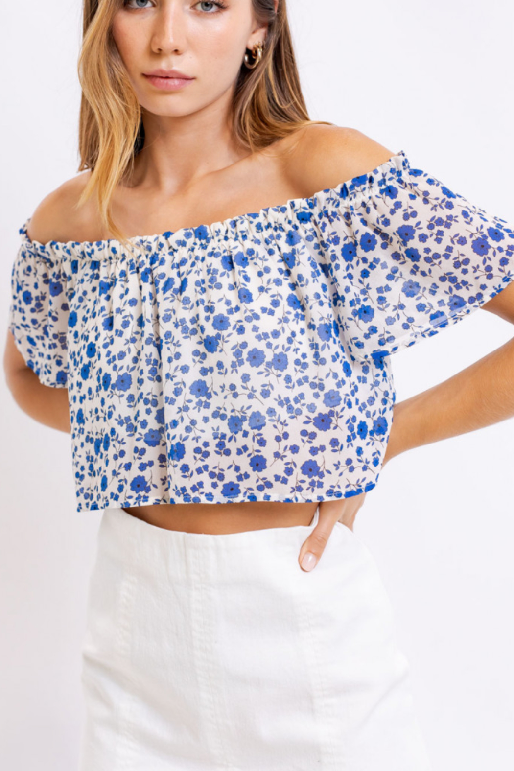 Le Lis Floral Cutie Top - Back Cropped Image