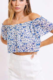 Le Lis Floral Cutie Top - Back cropped