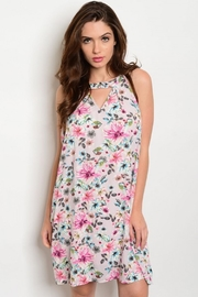 Peach Love California Floral Cutout Dress - Product Mini Image
